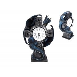 Blue Dragon on Cross Clock (Anne Stokes)