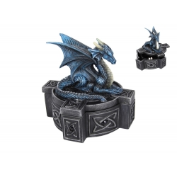 Blue Dragon on Cross Box (Anne Stokes)