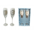 Unicorn Heart Champagne Glasses Set (Anne Stokes)