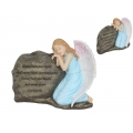 Kneeling Angel & Memorial Stone Plaque