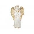 Praying Memorial Angel with Gold Leaf