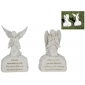 Stone Garden Angel with Memorial Message