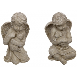 Stone Angel with Wings Pet Memorial