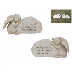 Angel Wings Pet Memorial Stone Plaque