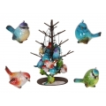 Marble Hanging Birds & Metal Display Pack
