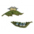 Blue Birds/Wrens on Garden Leaf