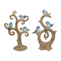 Blue Birds on Tree Branches