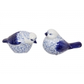 Blue Willow Bird Decor