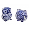 Blue Willow Owl Decor