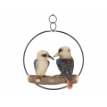 Kookaburra's in Hanging Metal Ring