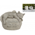 Angel Wings Cat on Memorial Plaque