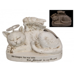 Cat Memorial Plaque with Light Up Halo