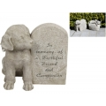 Angel Wings Dog by Memorial Plaque