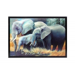 3D Elephant Plaque