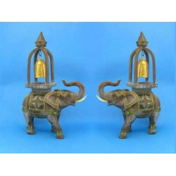 Asian Elephant with Bell