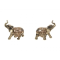 Gold Plated Lucky Elephant