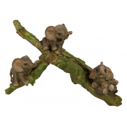 Elephant Babies on Tree/Log