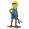 Marble Tradie Frog Holding Wrench