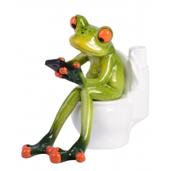 Marble Frog on Loo with Mobile