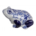 Blue Willow Frog Decor
