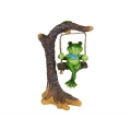 Frog on Garden Tree Branch Swing
