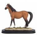 Chestnut Horse on Elegant Wooden Base