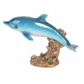 Ocean Blue Marble Dolphin (Medium)