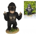 Cheeky Bobble Head Rude Finger Gorilla (Large)