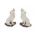 Mythical Howling White Wolf Sitting