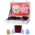 Glass Lucky Fortune Cat in Gift Bag