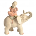 Boy Monk on Lucky Asian Elephant (Large)
