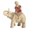 Boy Monk on Lucky Asian Elephant