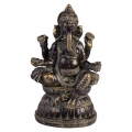 Serene Ganesh Praying on Lotus Base