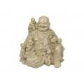 Stone Happy Buddha with Children