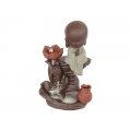Boy Buddha on Waterfall Backflow Incense Burner (Large)