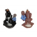 Boy Buddha on Waterfall Backflow Incense Burner