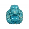 Blue Crackle Design Ceramic Buddha