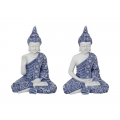 Blue Willow Rulai Buddha Meditating