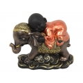 Boy Monk on Asian Elephant