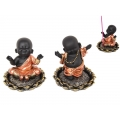 Boy Buddha in Robe on Lotus Incense Burner