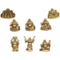 Gold Happy Buddha & Temple Display Pack