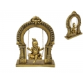 Hindu God Krishna on Golden Swing