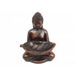 Antique Rulai Buddha Holding Leaf
