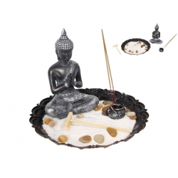 Praying Buddha Incense Burner Zen Garden