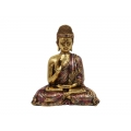 Antique Gold Buddha in Purple Robe