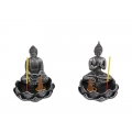 Rulai Buddha on Lotus Incense Burner