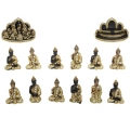 Gold Gemstone Rulai Buddha & Temple Display Pack