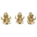 Gold Ornate Sitting Ganesh