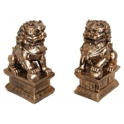 Antique Gold Chinese Temple Lion