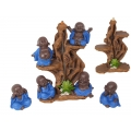 Blue Robe Monks & Incense Burner Tree Display Pack
